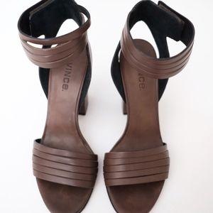 Vince Shoes - VINCE Lara Huarache Leather Sandals in Olive